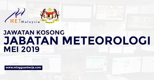 Permohonan Jawatan Kosong Jabatan Meteorologi Malaysia Dibuka Bulan Mei - Jun 2019