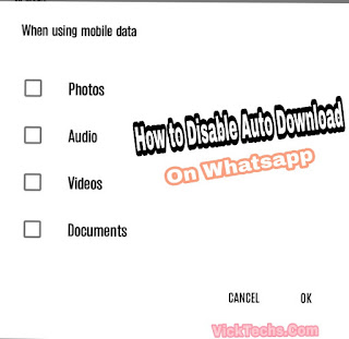 How to disable automatic downloads on whatsapp
