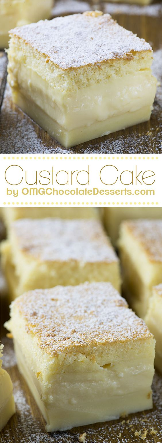 Vanilla Magic Custard Cake is melt-in-your-mouth soft and creamy dessert. It's like hocus pocus!!! when you put one simple and easy cake batter to bake, then the magic happens!!! You will take from the oven delicious, triple layered cake. Creamy, custard like, vanilla layer is separated between light and fluffy layer on top and dense cake layer on the bottom. But if you love banana flavor you should  check this delicious Easy Banana Magic Cake too!