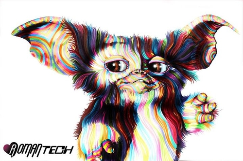 05-Gizmo-Gremlins-Joshua-Roman-Rainbow-Portraits-Drawings-Illustrations-www-designstack-co