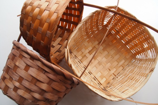 These baskets won't stay this plain for long! Wait til you see the color upgrade they get!