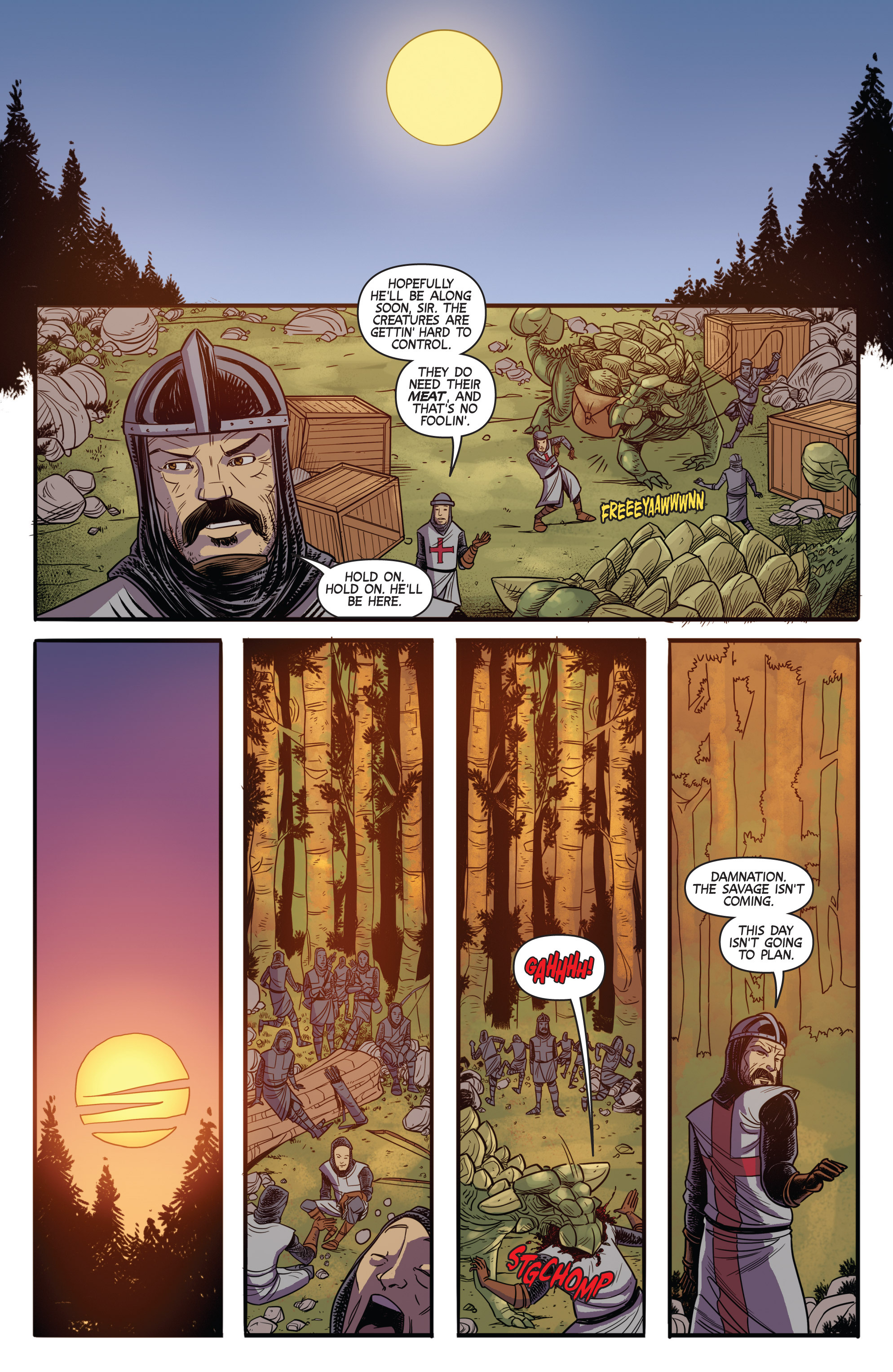 Read online Turok: Dinosaur Hunter (2014) comic -  Issue # _TPB 3 - 55