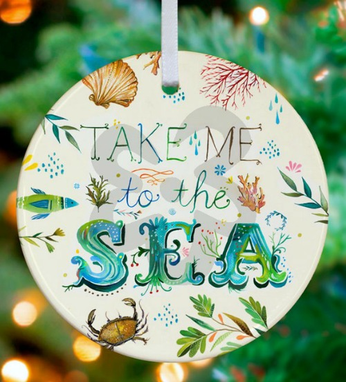 Take me to the Sea Christmas Ornament