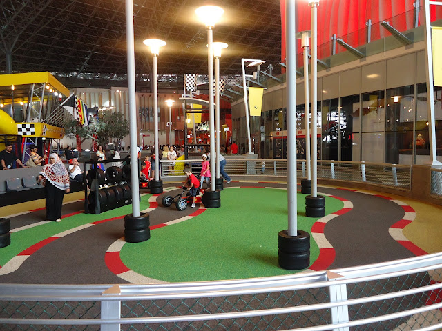 Kids in Kart Zone at Ferrari World, Yas Island Abu Dhabi
