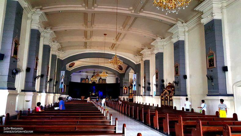 The interiors of Sta. Ana Church in Pampanga