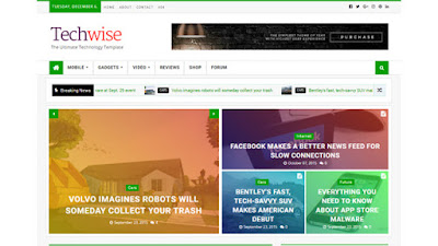 Techwise Blogger template Responsive
