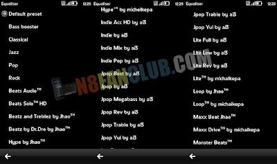 New Music Equalizer Presets by ai3 - Nokia N8 - Custom Mod