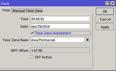 Sinkronisasi Waktu Otomatis di Routerboard