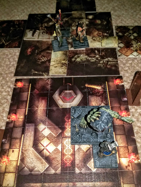 A report from Dungeon Saga, Dwarf King's Quest - Mission 6: Turned Around using Solo Play rules.