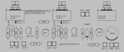 PCB Layout Gitar effek stombox Super Duper