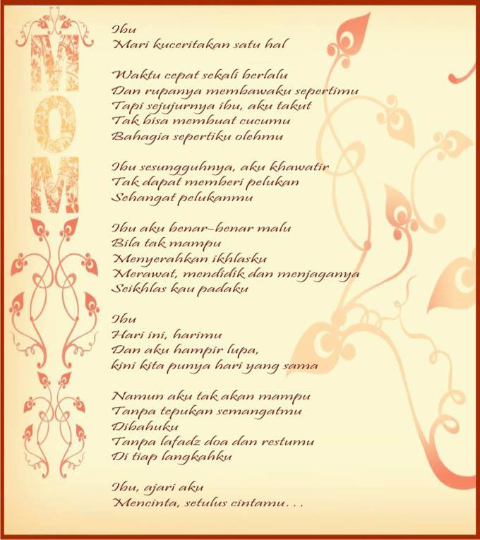 Puisi Hari Ibu Desember 2012 Bagus