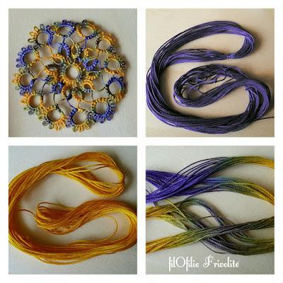 teindre des échevettes de fil de coton à frivolité (dentelle aux navettes) avec de la teinture à froid Procion MX