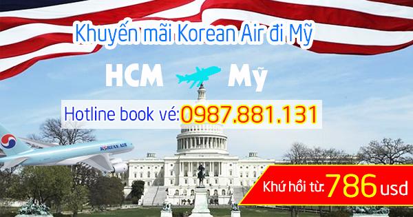 Mua vé khuyến mãi Korean Air bay rẻ đến Mỹ