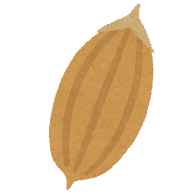 籾殻のイラスト(米)