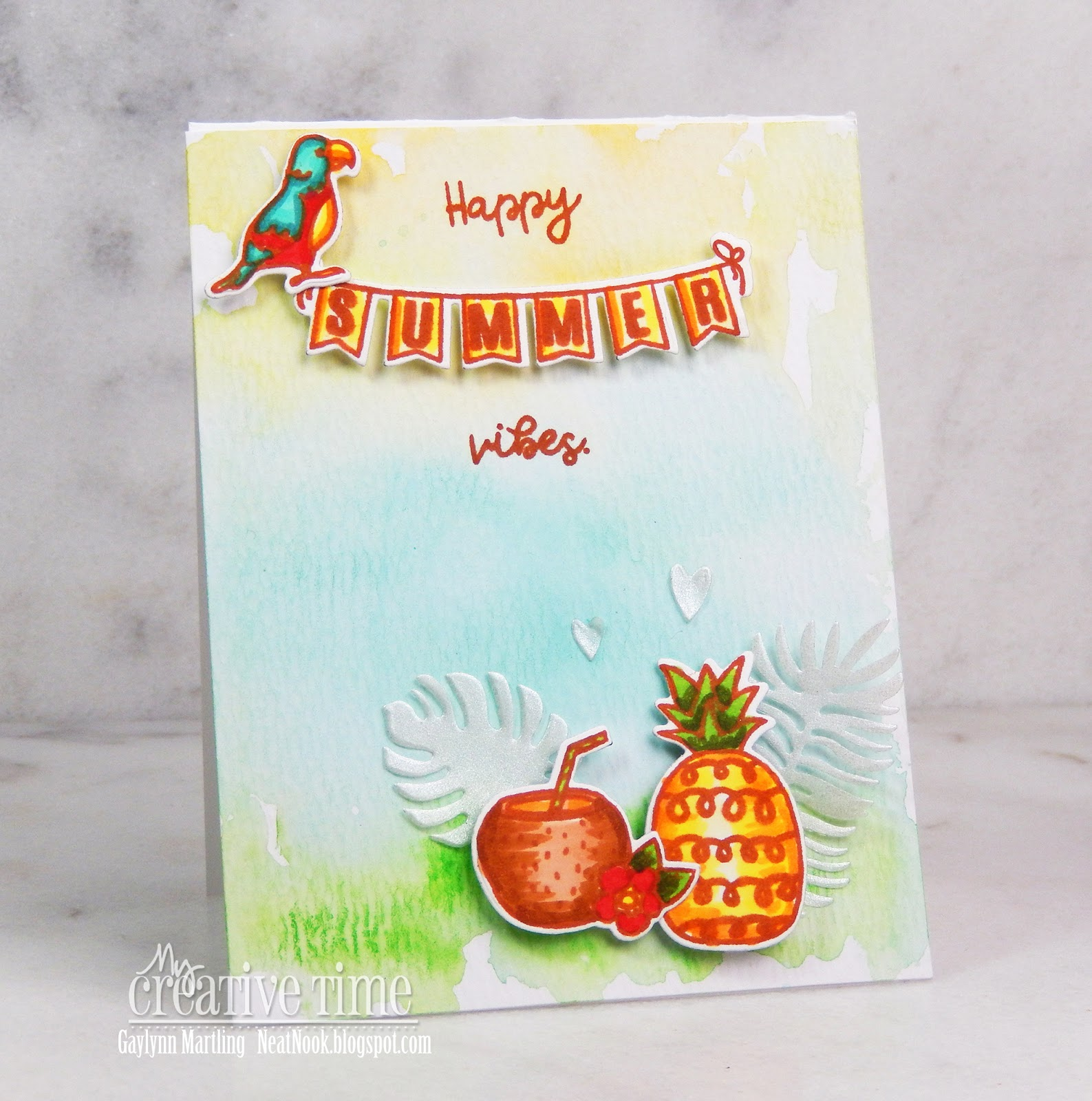 Today The MCT Team Is Sharing Day 2 Sneak Peeks Of 81st Edition Release Here My Tropical Summer Watercolor Card
