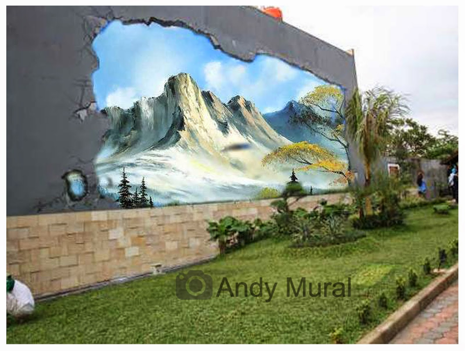 Konsep Lukisan Tembok Dinding Halaman Depan Rumah Jasa Lukis