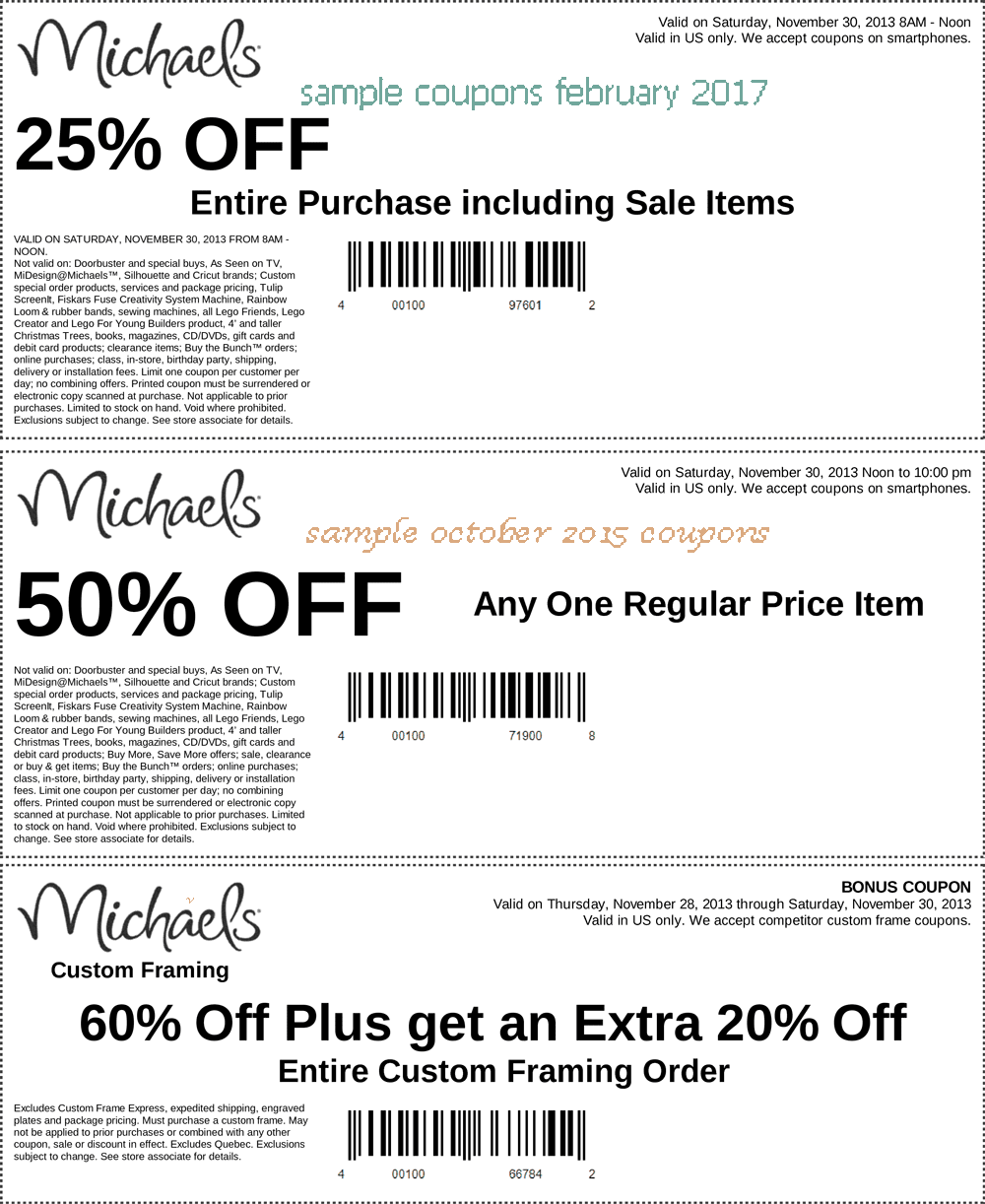 Michaels printable coupons may 2018