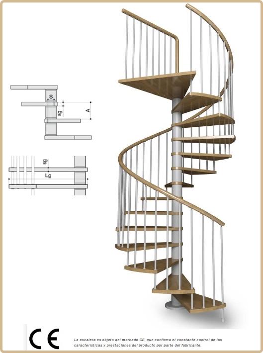 Mate ticas y arte itinerarios matem ticos ix escaleras for Como hacer una escalera en caracol