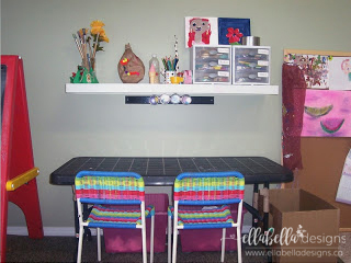 Organizing Kid's Playroom Toys with IKEA Expedit or Kallax by Ellabella Designs.