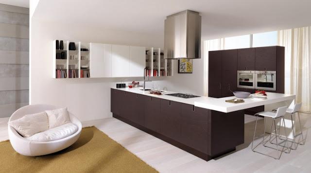 Zona living con cucina ad L