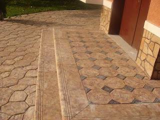 Decoración de los pavimentos con hormigón impreso