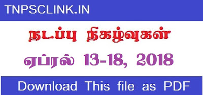 TNPSC Current Affairs April 13-18, 2018 (Tamil) - Download as PDF
