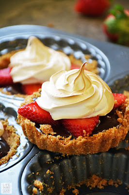Strawberry S'mores Tartlets | by Life Tastes Good