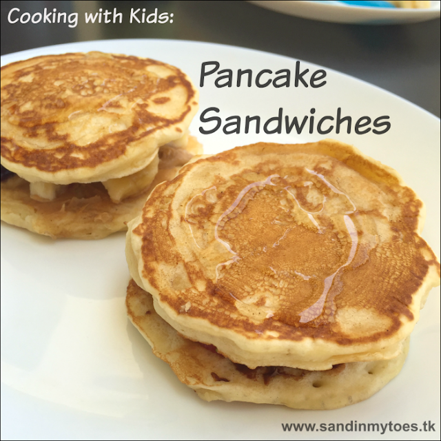 Pancake Sandwiches are a fun way to present pancakes, and kids can experiment will so many fillings!