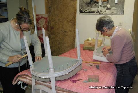 atelier et comptoir du tapissier stages tapisserie d 39 ameublement. Black Bedroom Furniture Sets. Home Design Ideas