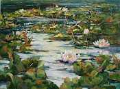 "Waterlilies 30x40"" oil on canvas"
