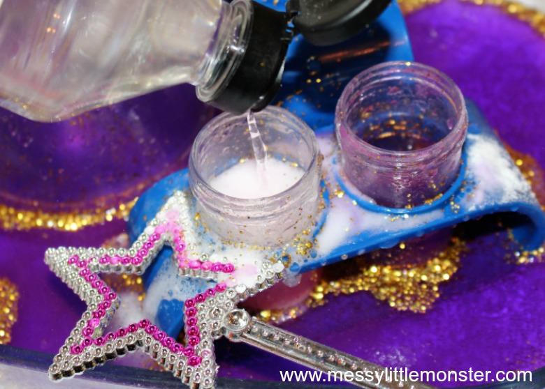 fun and easy science experiments for kids - baking soda magic potion