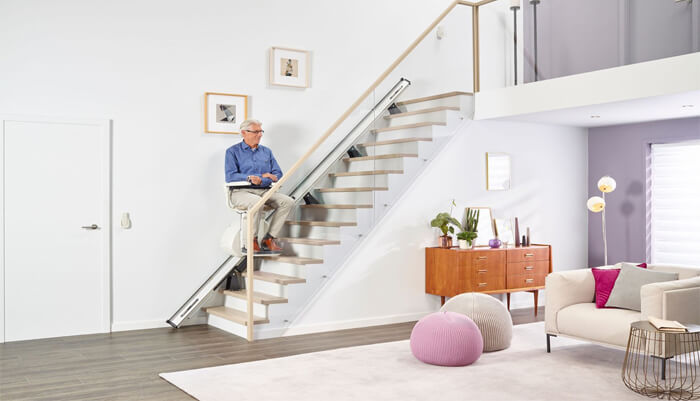 example of stairlifts in an apartment