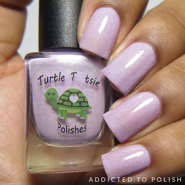 Turtle Tootsie Polishes Amanda's Unicorn with a Donut Horn The Color Box Purple