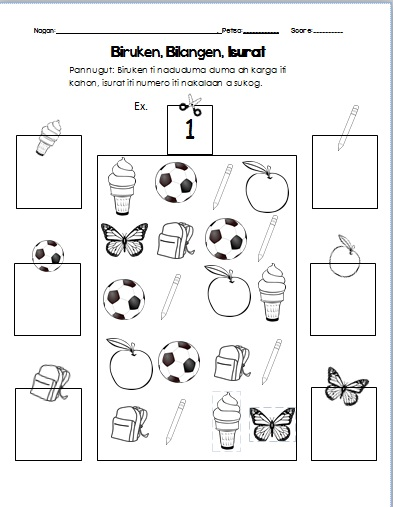 K12 grade 1 mtb ilokano activity worksheets maximising for Waste material activity