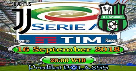 Prediksi Bola855 Juventus vs Sassuolo 16 September 2018