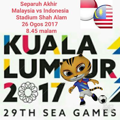 Live Streaming Malaysia vs Indonesia Sukan SEA 2017