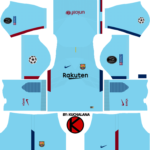 buy popular d3390 bf9ef Barcelona Nike Kits 2017/2018 - Dream League Soccer - Kuchalana