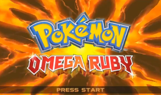 The Pokemon Omega Ruby title screen.