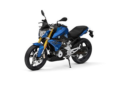 BMW G310R blue side angle HD Images 01