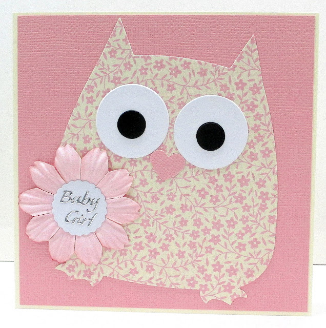 Jenfa Cards Baby Girl Owl