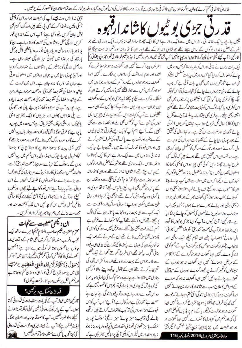 Page 24 Ubqari Magazine February 2016