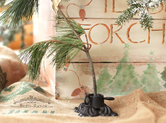Mini Wrought Iron Christmas Tree Holder, Bliss-Ranch.com
