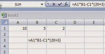 Order of precedence of Arithmetic Operators in Microsoft Excel