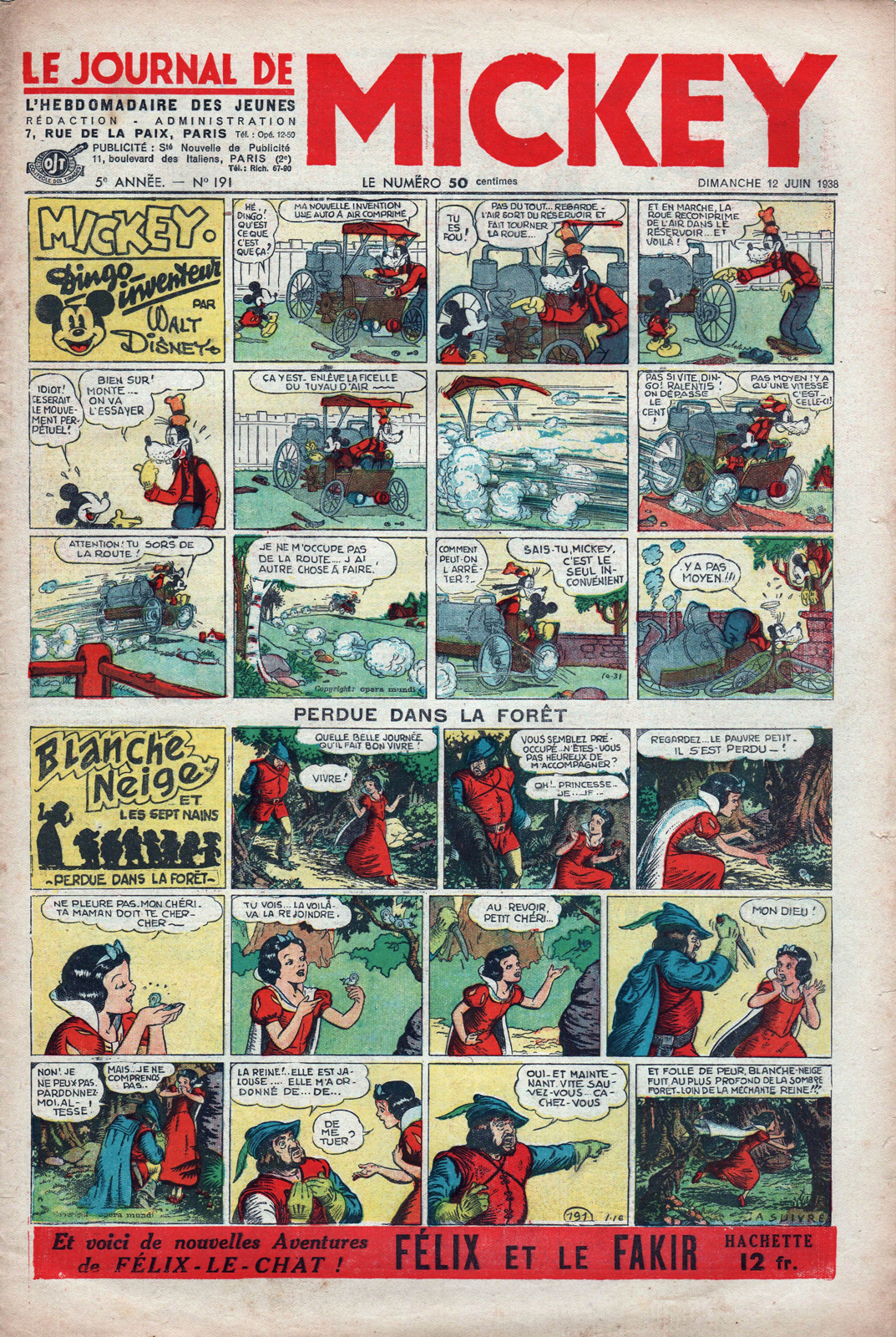 filmic light snow white archive 1938 le journal de mickey blanche neige comic strip. Black Bedroom Furniture Sets. Home Design Ideas