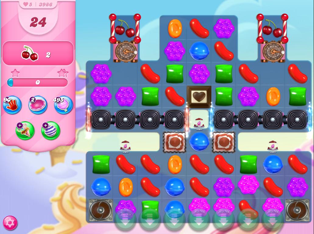 Candy Crush Saga level 3986