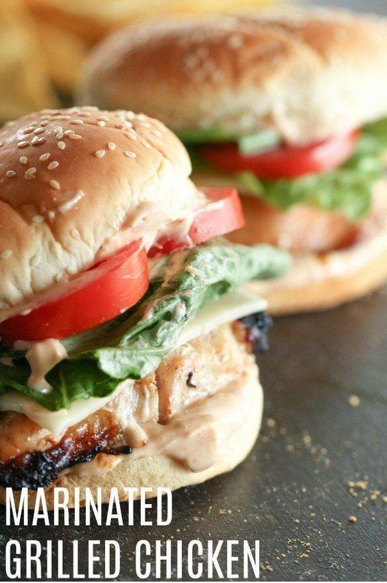 Marinated Grilled Chicken Sandwich Recipe