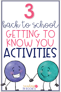 Are you looking for some fun ways to get to know your students better?  Here are three great getting to know you activities for back to school!  I use them at the beginning of the year, when we get a new student and/or change groups.  Click here to get your freebie!