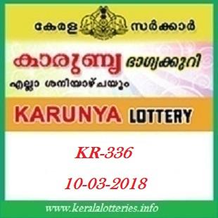 KARUNYA (KR-336) LOTTERY RESULT