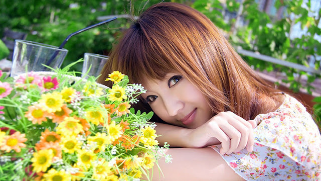 Beautiful Girls With Flower HD Wallpaper Backgrounds Download