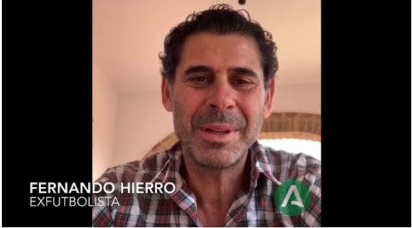 """Fernando Hierro a los sanitarios malagueños: """"Sois nuestros héroes"""""""
